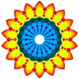 Ornamento redondo, mandala coloreada Fotografía de archivo