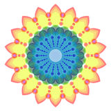 Ornamento redondo, mandala coloreada Fotos de archivo libres de regalías