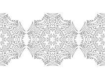 Ornamento redondo para los libros de colorear Negro, modelo inconsútil blanco cordón Imagenes de archivo