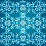 Ornamento redondo sem emenda azul abstrato Imagens de Stock