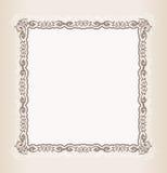 Ornamento retro do teste padrão do frame do quadrado do vintage do vetor Fotos de Stock Royalty Free