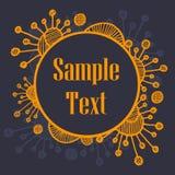 Ornamento retro redondo del vector Fotografía de archivo libre de regalías