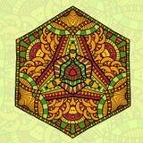 Ornamento retro redondo del vector Foto de archivo libre de regalías