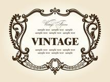 Ornamento retro rococo do frame do vintage Foto de Stock Royalty Free