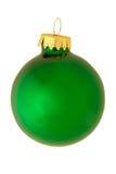 Ornamento riflettente classico di natale - verde Immagine Stock