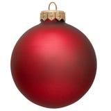 Ornamento rojo de la Navidad. Imagen de archivo libre de regalías