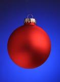 Ornamento rojo de la Navidad Imágenes de archivo libres de regalías