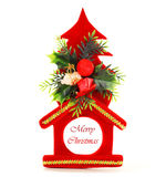 Ornamento rojo de la Navidad Fotos de archivo