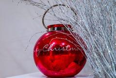 Ornamento rojo de la Navidad Fotografía de archivo libre de regalías