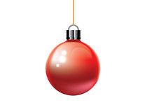 Ornamento rojo de la Navidad de la bola Imágenes de archivo libres de regalías