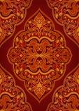 Ornamento rojo oriental stock de ilustración