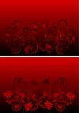 Ornamento rojo y negro abstracto Imagen de archivo