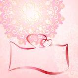 Ornamento romântico do cartão do convite do casamento Imagem de Stock