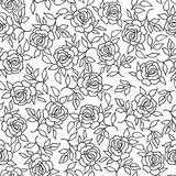Ornamento rosa di Flourish del fondo del profilo del fiore floreale del modello Fotografia Stock