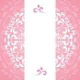 Ornamento rosado de pétalos y de flores Imágenes de archivo libres de regalías