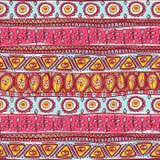 Ornamento rosado tribal inconsútil Imagen de archivo