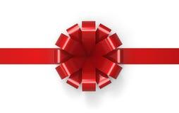 Ornamento rosso del nastro Fotografia Stock