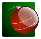 Ornamento rosso di natale illustrazione vettoriale
