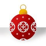 Ornamento rosso di Natale Fotografie Stock