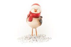 Ornamento rosso di Natale di Robin Immagine Stock Libera da Diritti