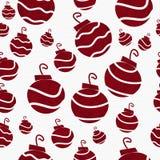 Fondo rosso del tessuto dell'ornamento di Natale retro Fotografia Stock