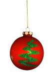 Ornamento rotondo dell'albero di Natale Fotografia Stock Libera da Diritti