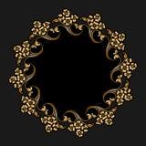 Ornamento rotondo dell'oro di vettore Fotografie Stock Libere da Diritti