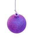 Ornamento roxo da árvore de Natal Imagem de Stock Royalty Free