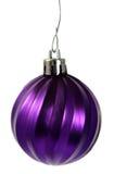 Ornamento roxo de suspensão do Natal Imagem de Stock