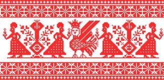 Ornamento ruso Stock de ilustración