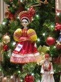 Ornamento ruso de la muñeca Fotografía de archivo