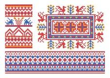 Ornamento ruso viejo. Fotos de archivo