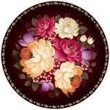 Ornamento russo del fiore dell'artigianato di Zhostovo nel vettore Fotografia Stock