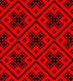 Ornamento salvic tradizionale dai quadrati Fotografia Stock
