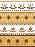 Ornamento sem emenda com motivo floral Ilustração do vetor Fotos de Stock