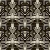 Ornamento sem emenda do teste padrão do art deco Fundo à moda geométrico Fotografia de Stock