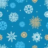 Ornamento sem emenda dos flocos de neve Imagem de Stock Royalty Free