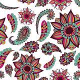Ornamento sem emenda Garatuja bonita Projete elementos para o projeto de produtos impressos, de Web ou de projeto da cópia para a Imagem de Stock Royalty Free