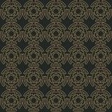 Ornamento sem emenda geométrico dourado Vetor ilustração stock