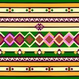 Ornamento sem emenda linear Fotografia de Stock Royalty Free