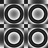 Ornamento sem emenda preto e cinzento. Imagem de Stock Royalty Free