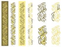 Ornamento semplice della pianta della vaniglia Fotografia Stock