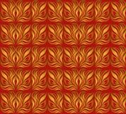 Ornamento senza cuciture con la foglia di oro royalty illustrazione gratis