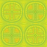 Ornamento senza cuciture con un incrocio Tonalità di verde Immagini Stock