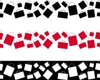 Ornamento senza cuciture del sacchetto della spesa Progettazione della carta di vendite di Black Friday Decorazione di offerta di Fotografie Stock