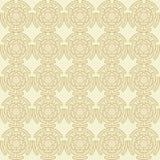 Ornamento senza cuciture geometrico dorato Vettore illustrazione di stock