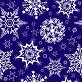 Ornamento senza giunte con i fiocchi di neve Fotografie Stock Libere da Diritti