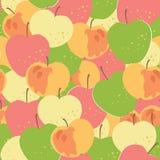 Ornamento senza giunte con le mele Fotografia Stock Libera da Diritti
