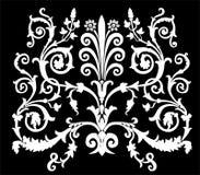 Ornamento simétrico encrespado blanco stock de ilustración