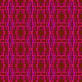 Ornamento simmetrico e senza cuciture del modello per il plaid, panno, coperte nei toni rossi Fotografia Stock
